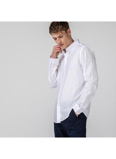 Lacoste Erkek Slim Fit Gömlek CH0103.03B Beyaz